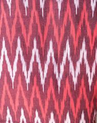 Ikat Cotton Running Material- Maroon&White (1 mtr/2.5 mtr)