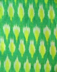 Ikat Cotton Running Material- Light Green (1 mtr/2.5 mtr)