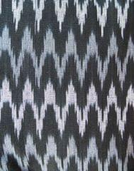 Ikat Cotton Running Material- Black&Grey (1 mtr/2.5 mtr)