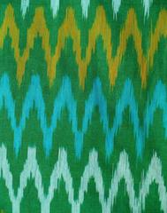 Ikat Cotton Running Material-Green (1 mtr/2.5 mtr)