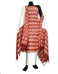 Handloom Cotton Ikat Salwar Suit-Multicolor