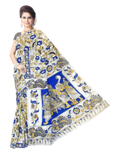 Kalamkari Saree in Cotton-Pattern 4