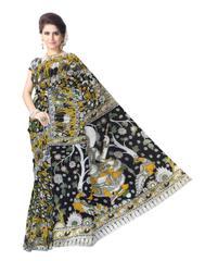 Kalamkari Saree in Cotton-Pattern 5