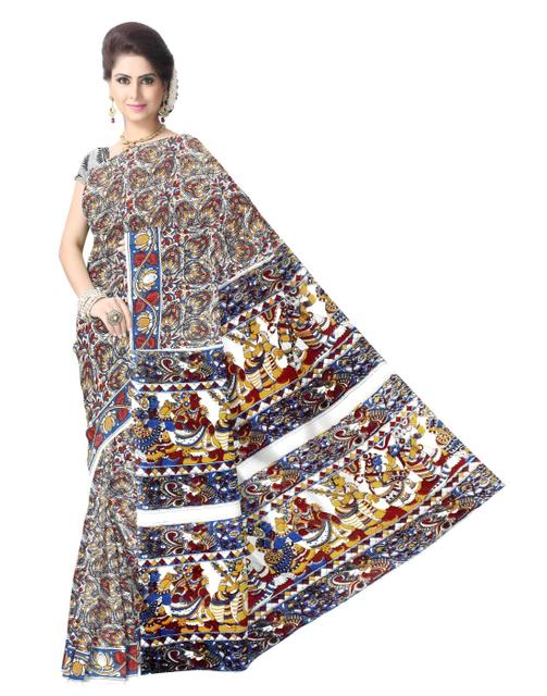 Kalamkari Saree in Cotton-Pattern 1