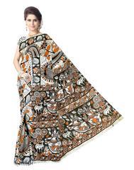 Kalamkari Saree in Cotton-Pattern 6