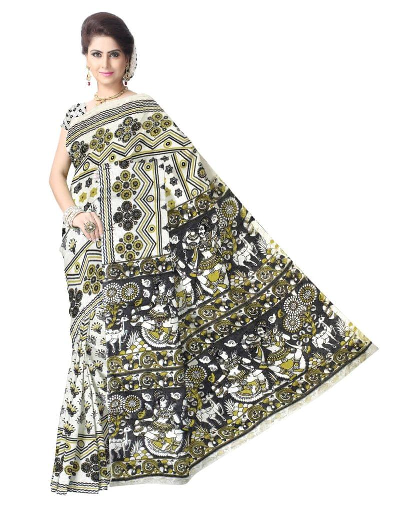 Kalamkari Saree in Cotton-Pattern 2