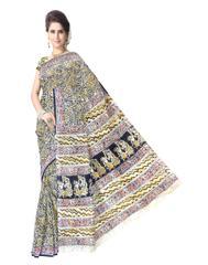 Kalamkari Saree in Cotton-Pattern 8