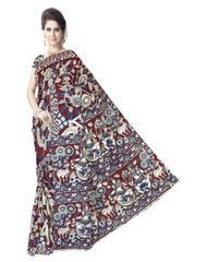 Kalamkari Saree in Cotton-Pattern 9