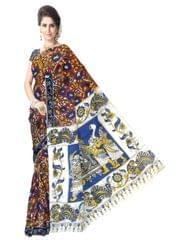 Kalamkari Saree in Cotton-Pattern 10