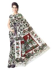 Kalamkari Saree in Cotton-Pattern 11