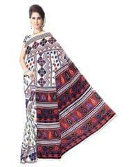 Kalamkari Saree in Cotton-Pattern 12