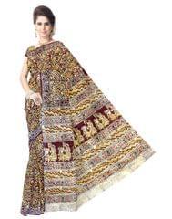 Kalamkari Saree in Cotton-Pattern 13