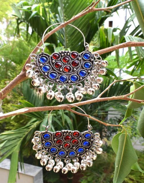 Afghani Earrings/Chandbalis in Alloy Metal 1