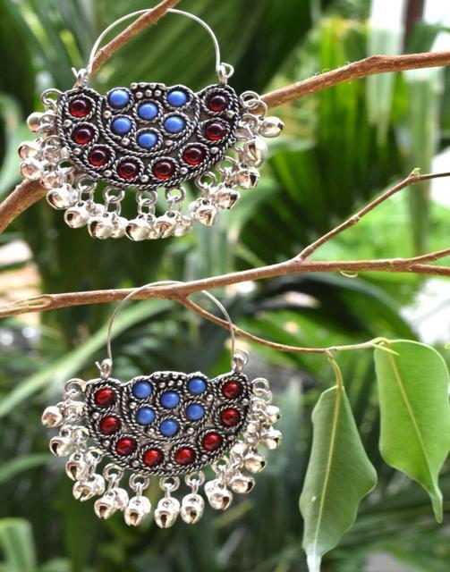 Afghani Earrings/Chandbalis in Alloy Metal 4