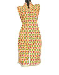 Khadi Phulkari Kurta Semi Stitched - Pattern 5