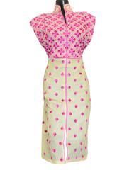 Khadi Phulkari Kurta Semi Stitched - Pattern 1