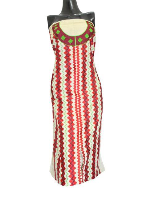 Khadi Phulkari Kurta Semi Stitched - Pattern 2