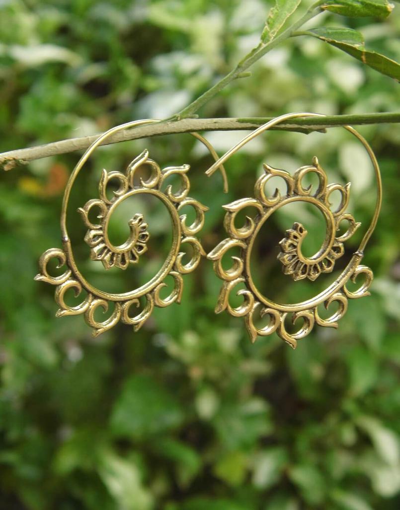 Spiral Brass Earrings 4