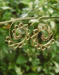 Spiral Brass Earrings 4