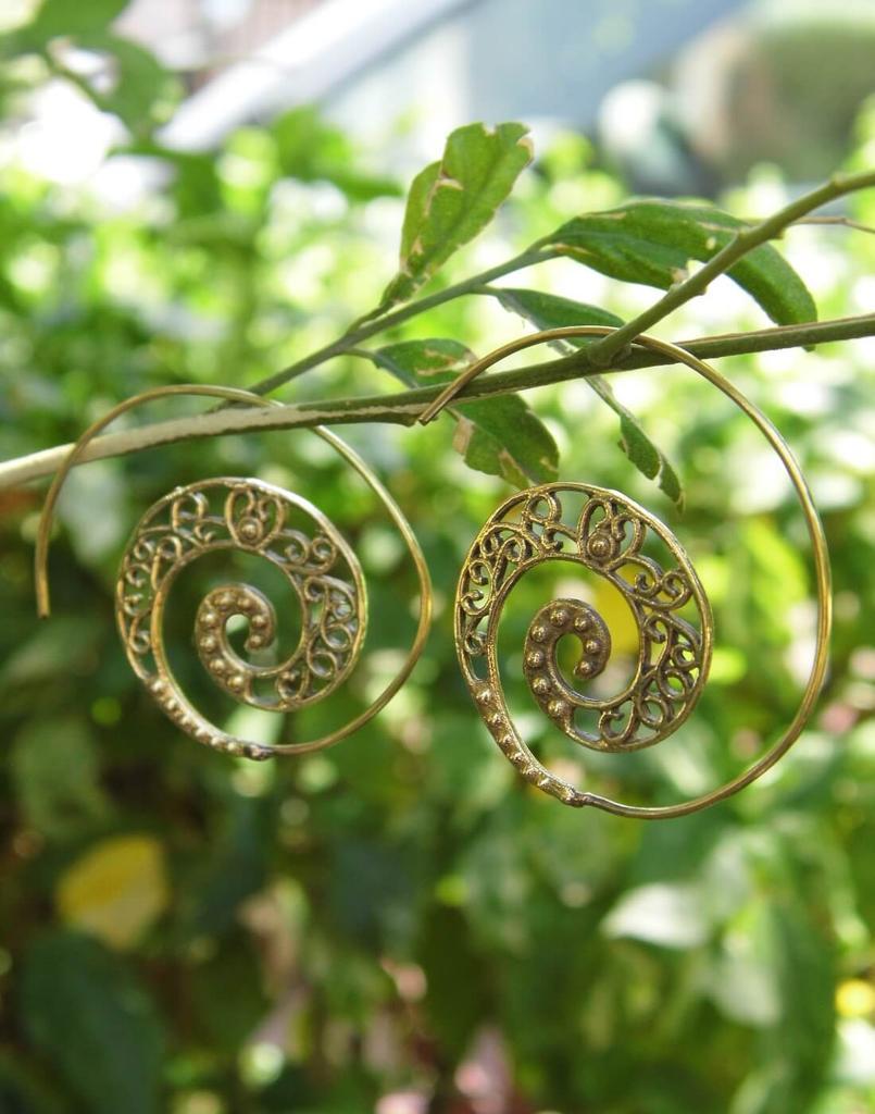 Spiral Brass Earrings 6