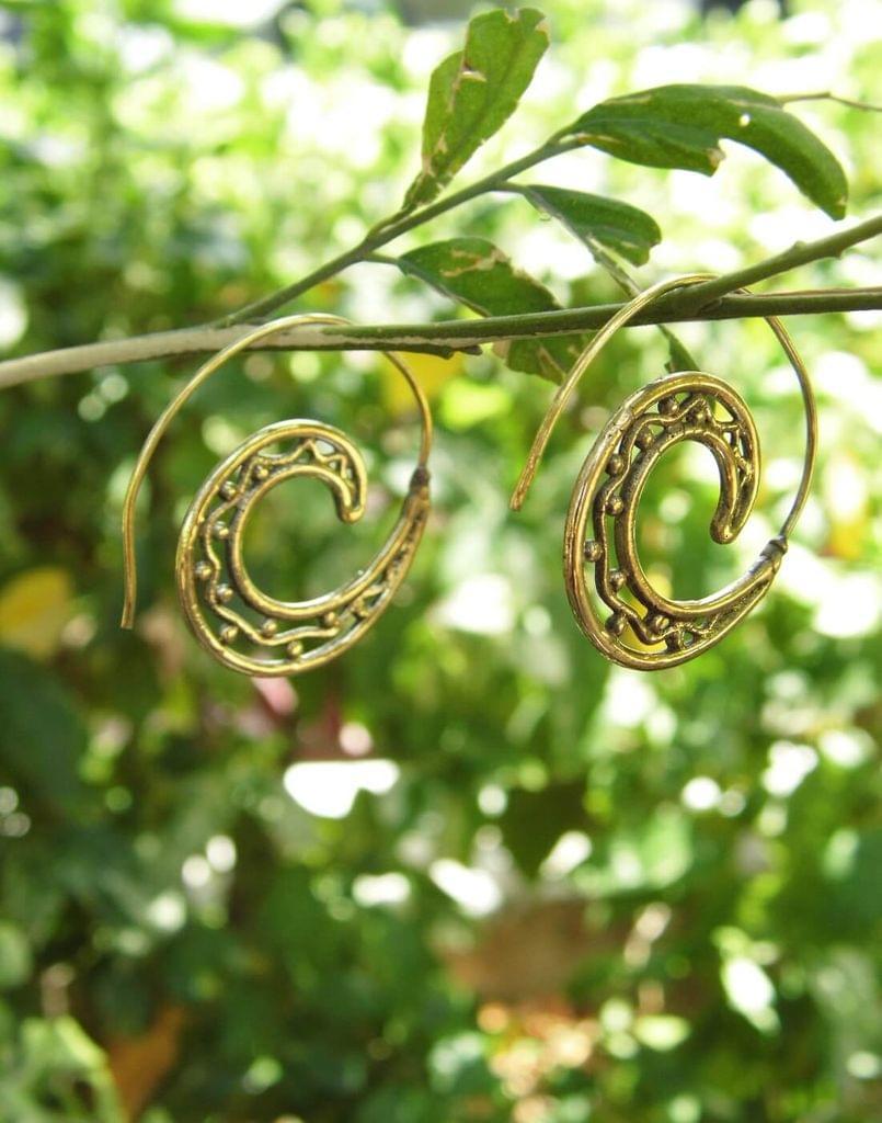 Spiral Brass Earrings 7