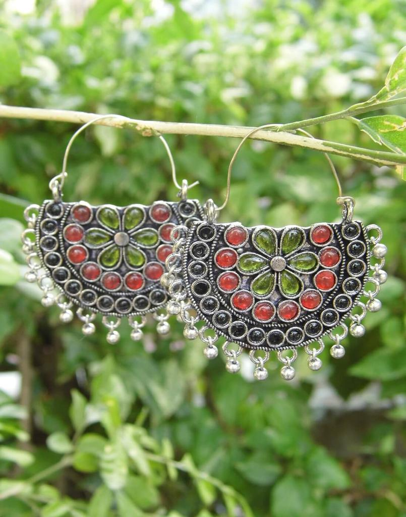 Afghani Earrings/Chandbalis in Alloy Metal 24