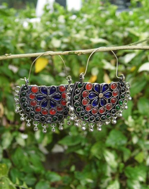 Afghani Earrings/Chandbalis in Alloy Metal 20