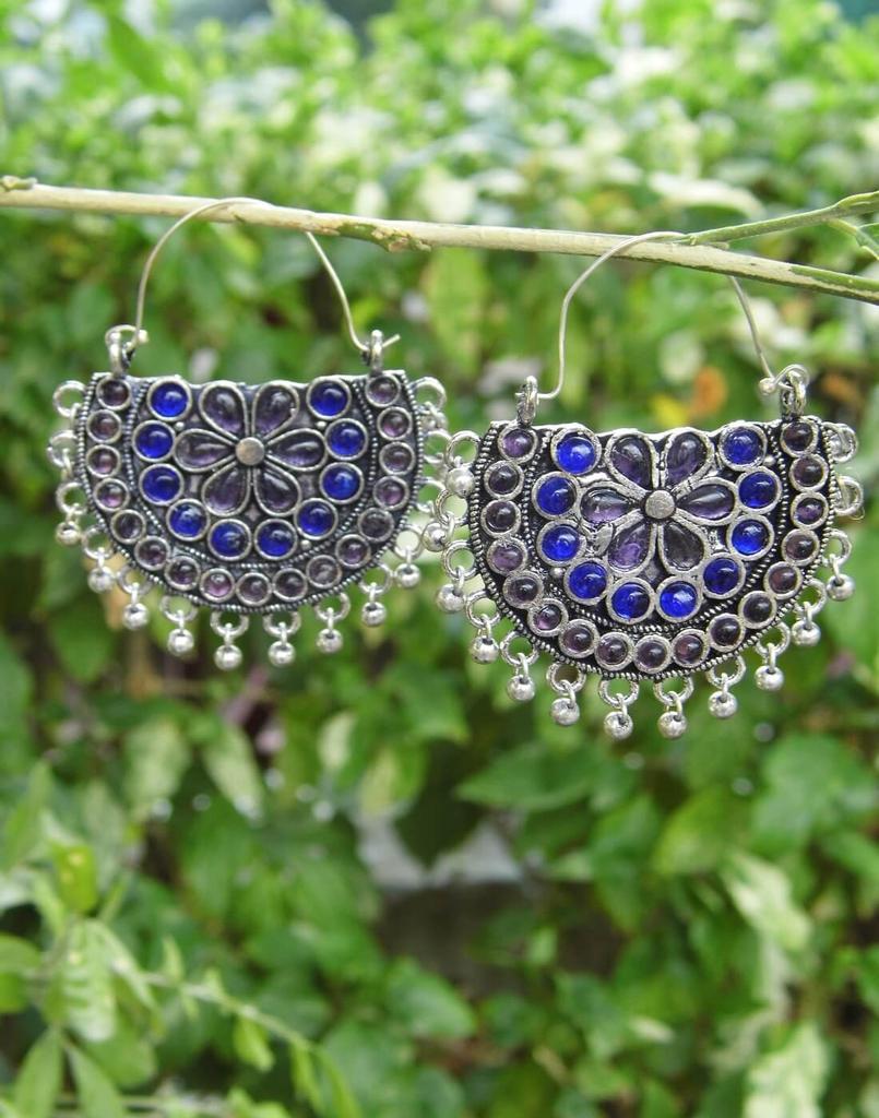 Afghani Earrings/Chandbalis in Alloy Metal 34