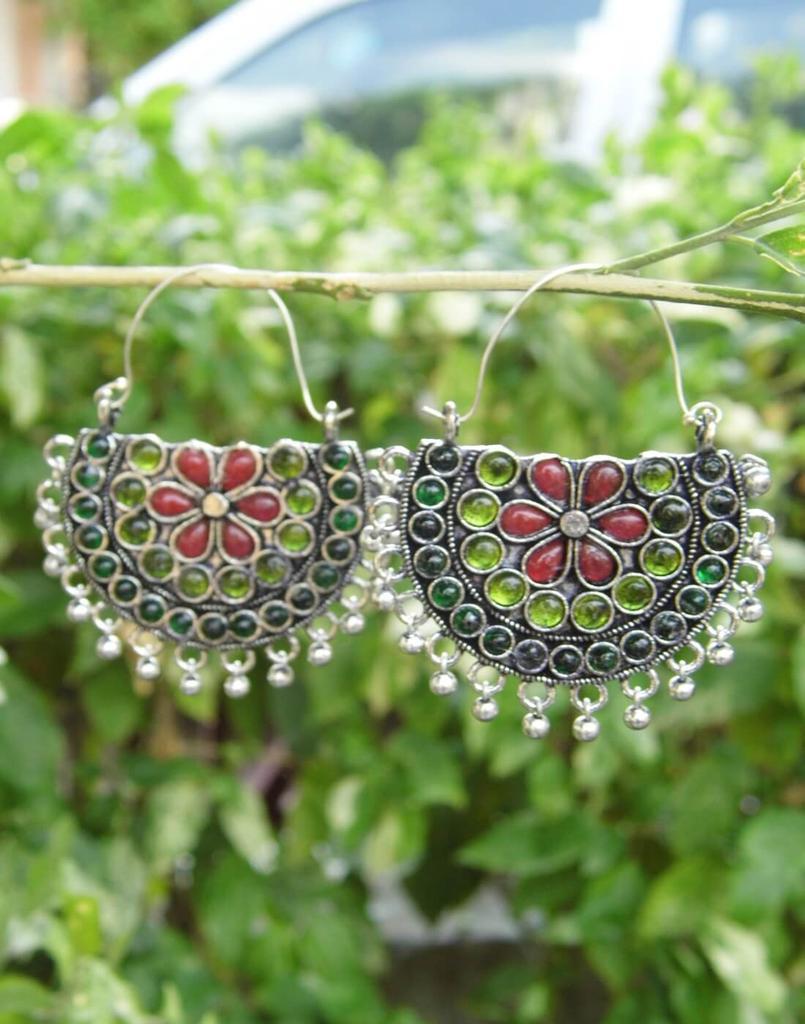 Afghani Earrings/Chandbalis in Alloy Metal 30