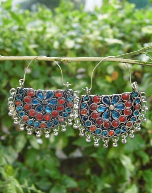 Afghani Earrings/Chandbalis in Alloy Metal 42