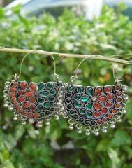 Afghani Earrings/Chandbalis in Alloy Metal 43