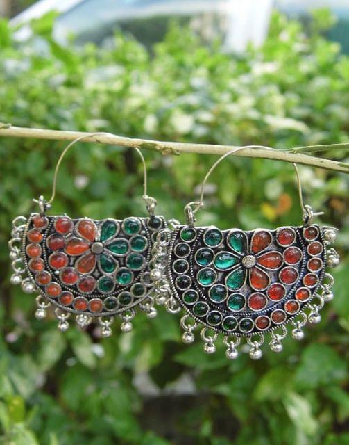 Afghani Earrings/Chandbalis in Alloy Metal 43