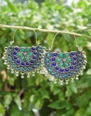 Afghani Earrings/Chandbalis in Alloy Metal 40