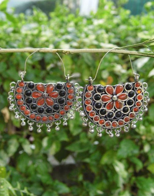 Afghani Earrings/Chandbalis in Alloy Metal 45