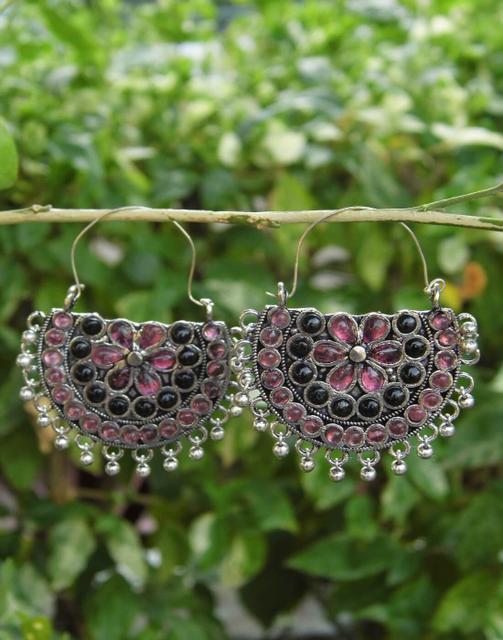 Afghani Earrings/Chandbalis in Alloy Metal 46