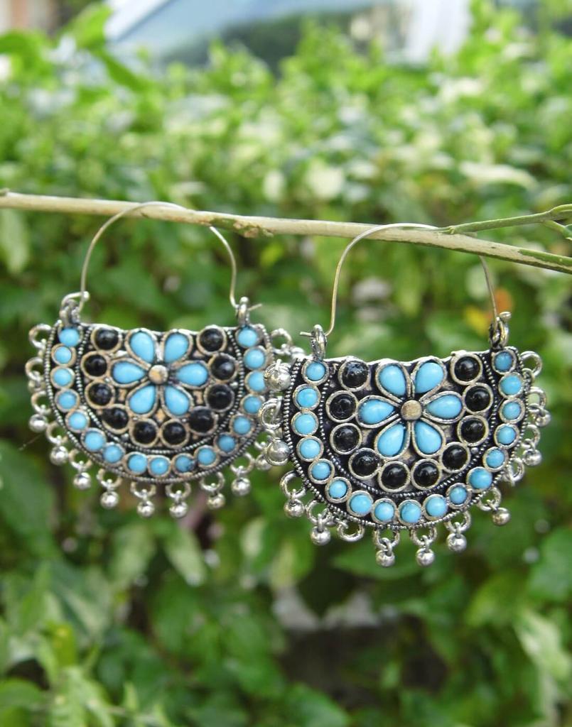 Afghani Earrings/Chandbalis in Alloy Metal 48