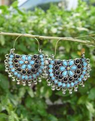 Afghani Earrings/Chandbalis in Alloy Metal 48