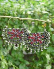 Afghani Earrings/Chandbalis in Alloy Metal 53