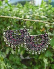 Afghani Earrings/Chandbalis in Alloy Metal 50