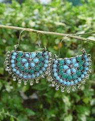 Afghani Earrings/Chandbalis in Alloy Metal 51
