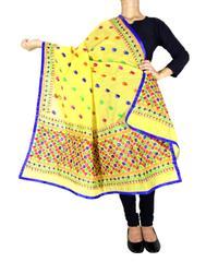 Chanderi Phulkari/Bagh Dupatta-Yellow 1