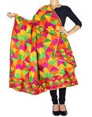 Cotton Bagh/Phulkari Dupatta-Multicolor 3