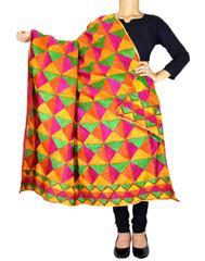 Cotton Bagh/Phulkari Dupatta-Multicolor 1
