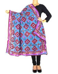 Heavy Georgette Hand Embroidered Dupatta- Blue 1