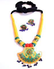 Threaded Meenkari Necklace Set- Pattern 3