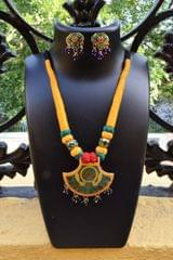 Threaded Meenkari Necklace Set- Pattern 3