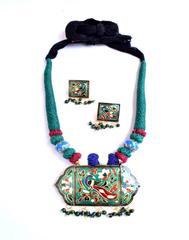 Threaded Meenkari Necklace Set- Pattern 4