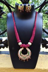 Threaded Meenkari Necklace Set- Pattern 5