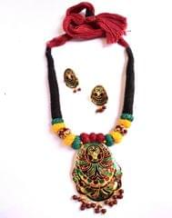Threaded Meenkari Necklace Set- Pattern 6