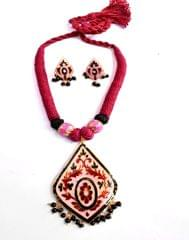 Threaded Meenkari Necklace Set- Pattern 7